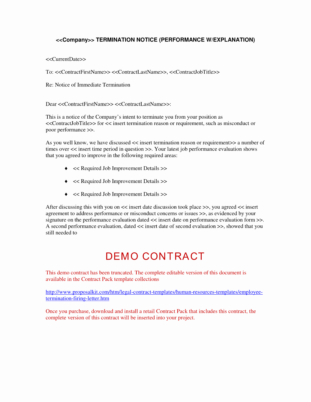 Termination Of Employment Letter New Employment Contract Termination Letter Free Printable