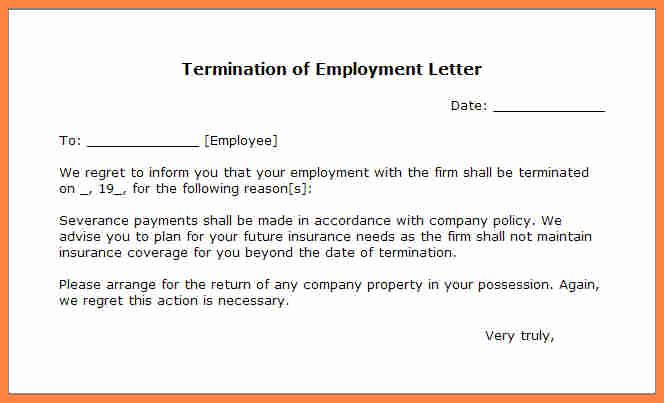 Termination Of Employment Letter Unique 11 Employment Termination Notice Sample