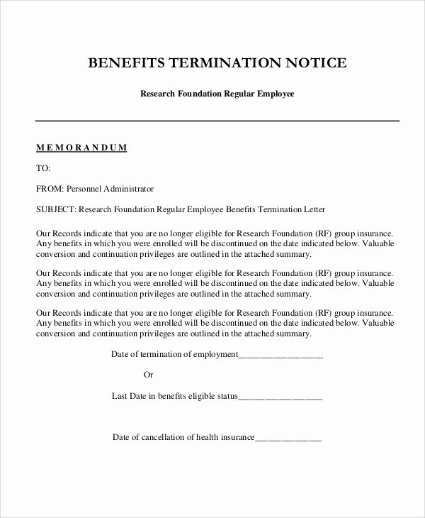 Termination Of Employment Letter Unique 9 Sample Employee Termination Letters Word Pdf Pages