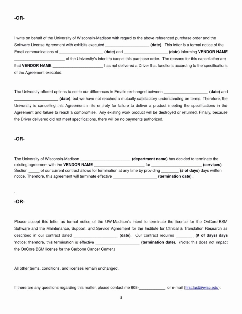 Termination Of Services Letter Beautiful Termination Letter Templates 26 Free Samples Examples