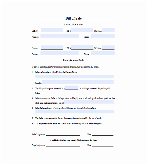Texas Firearm Bill Of Sale Fresh Gun Bill Of Sale Template – 10 Free Word Excel Pdf