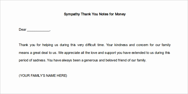 Thank You Card for Money Awesome 12 Thank You Note Templates Free Sample Example