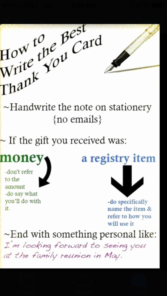 Thank You Card for Money Awesome How to Write A Thank You Card Life Tips