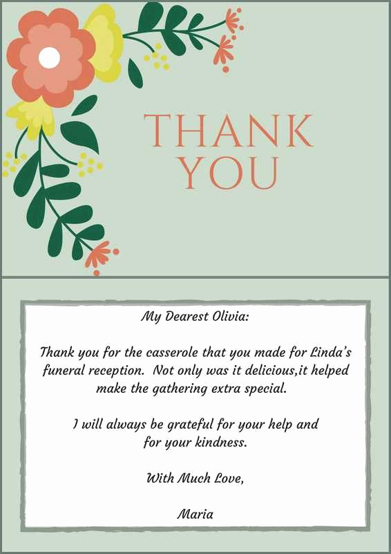 Thank You Card for Money Best Of 33 Best Funeral Thank You Cards