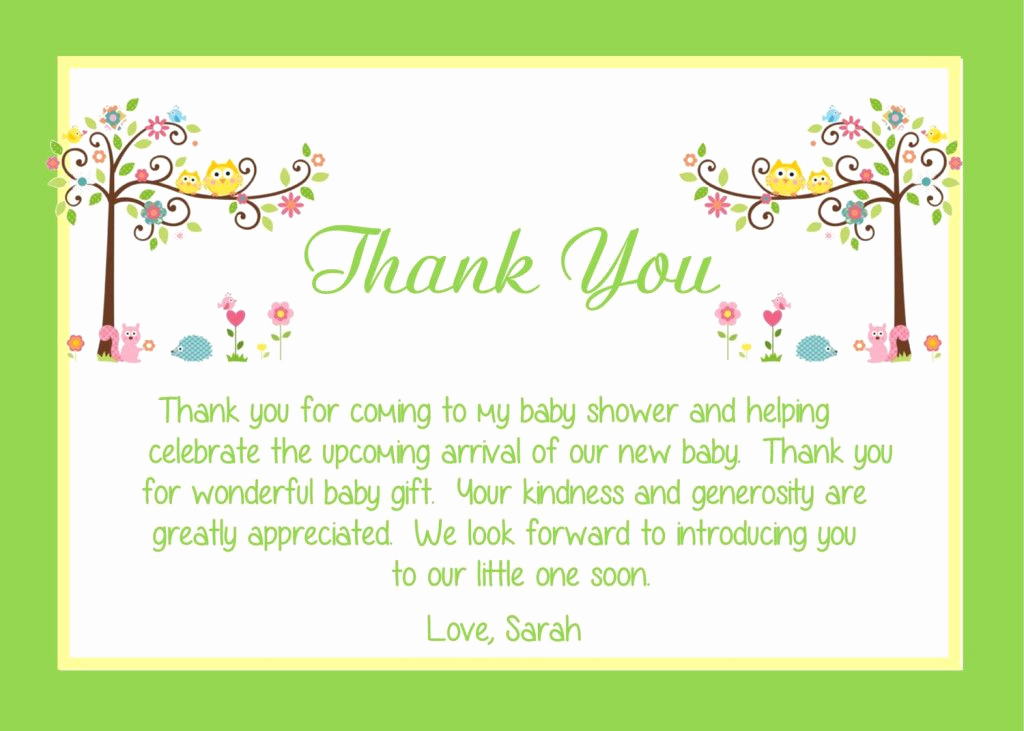 Thank You Card for Money Elegant Baby Shower Thank You Card Wording Ideas