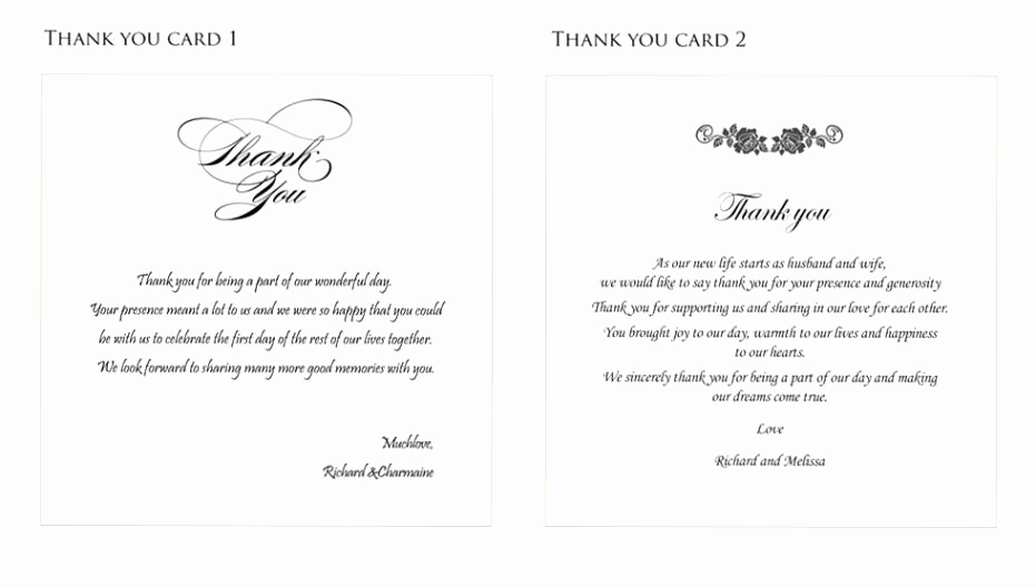 Thank You Card for Money Elegant Best Wedding Thank You Gifts