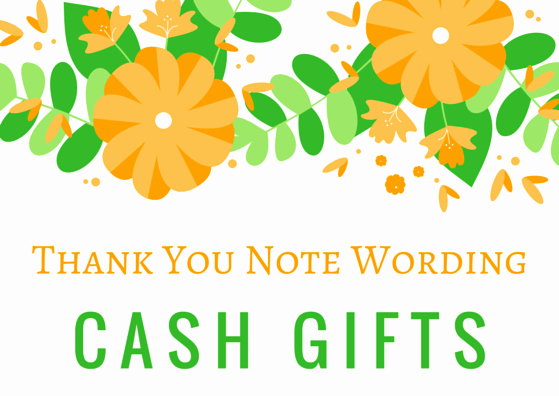 Thank You Card for Money Elegant Money Cash Gift Thank You Notes