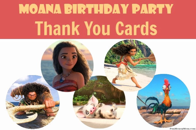 Thank You Card for Money Lovely Moana Thank You Cards Free Printable From Fun Money Mom