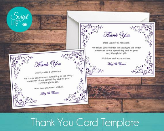 Thank You Card Template Word Awesome Thank You Card Template Free Color Change Diy by Scriptandlily