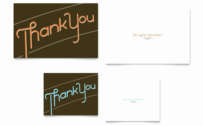 Thank You Card Template Word Awesome Thank You Note Card Template Design