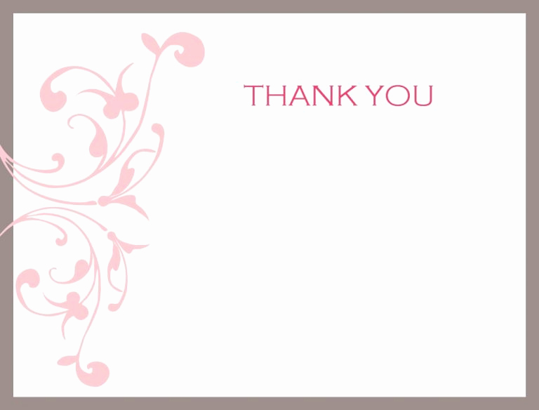 Thank You Card Template Word Inspirational Thank You Note Template