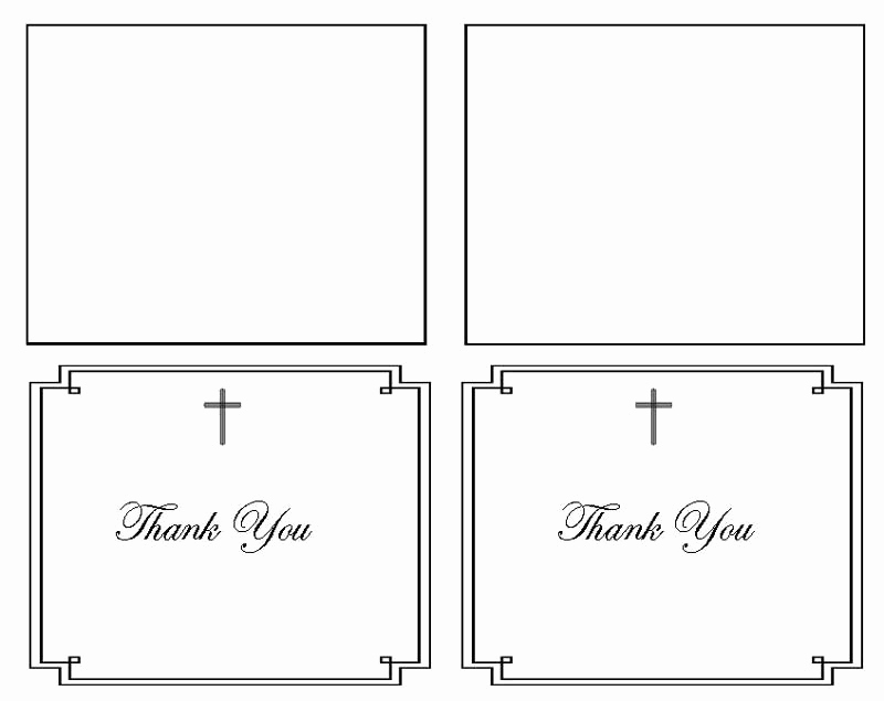 Thank You Card Template Word Lovely Classic Cross Thank You Card Template Elegant Memorials
