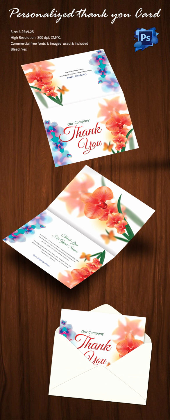 Thank You Card Template Word Unique 105 Thank You Cards – Free Printable Psd Eps Word Pdf