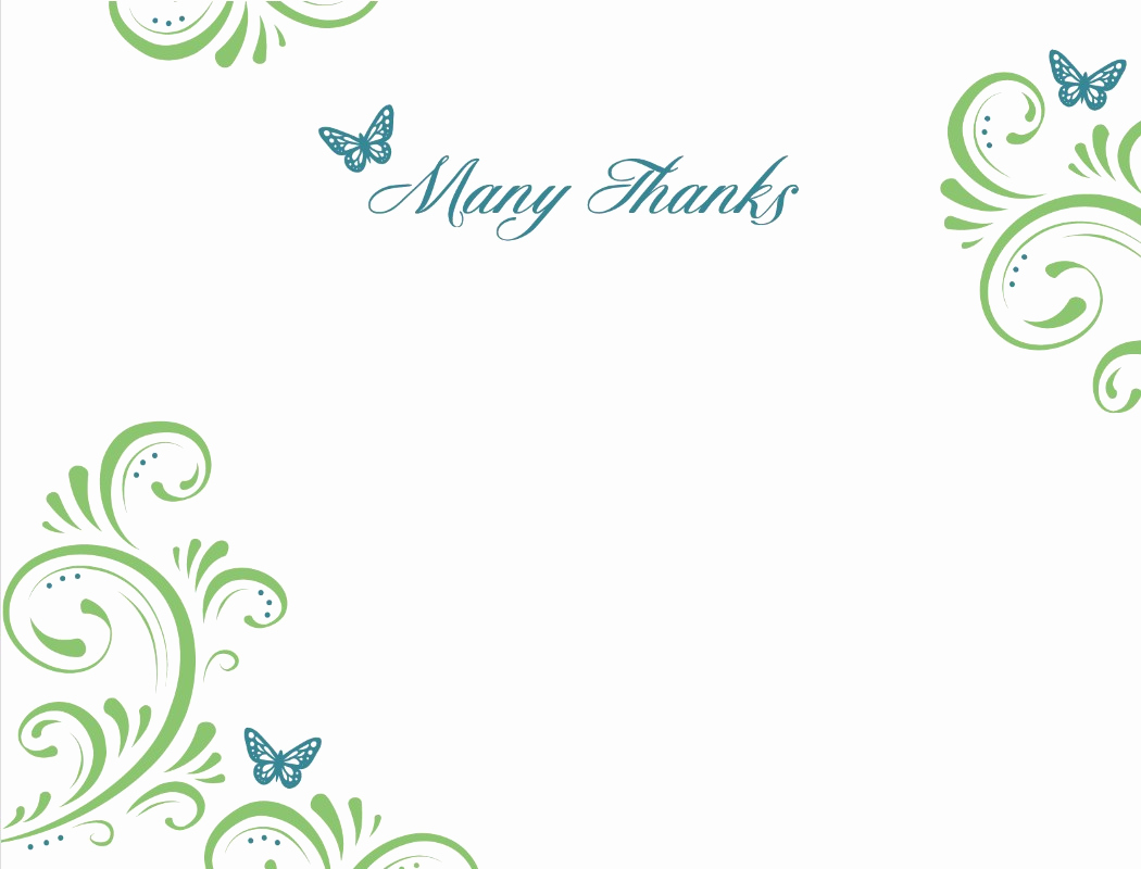Thank You Cards Template Best Of Thank You Template