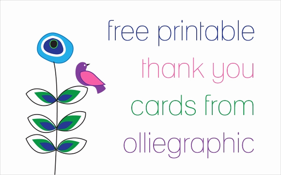 Thank You Cards Template Fresh 9 Printable Thank You Card Templates Free Sample