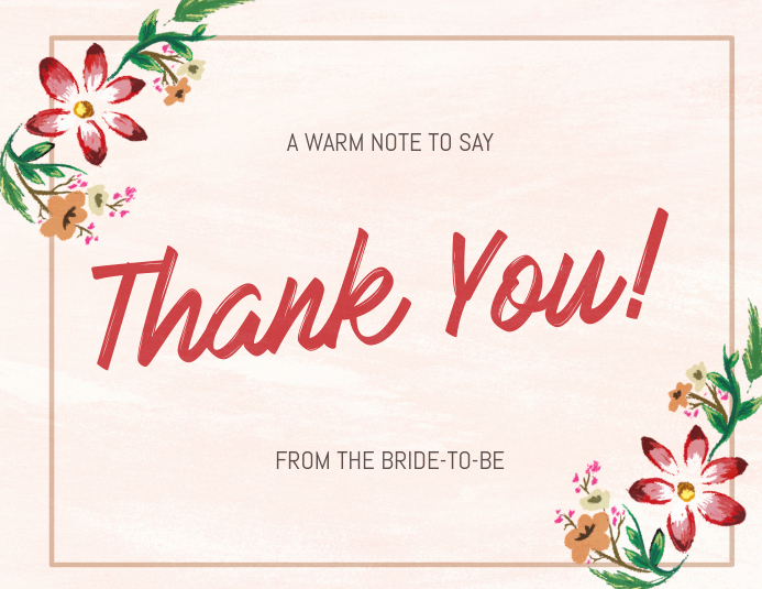 Thank You Cards Template Fresh Copy Of Floral Thank You Card Template
