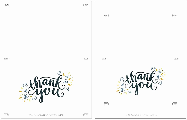 Thank You Cards Template Inspirational Freebie Printable Thank You Card Cards