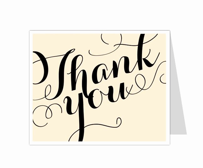 Thank You Cards Template Luxury 12 Best Thank You Card Templates Images On Pinterest