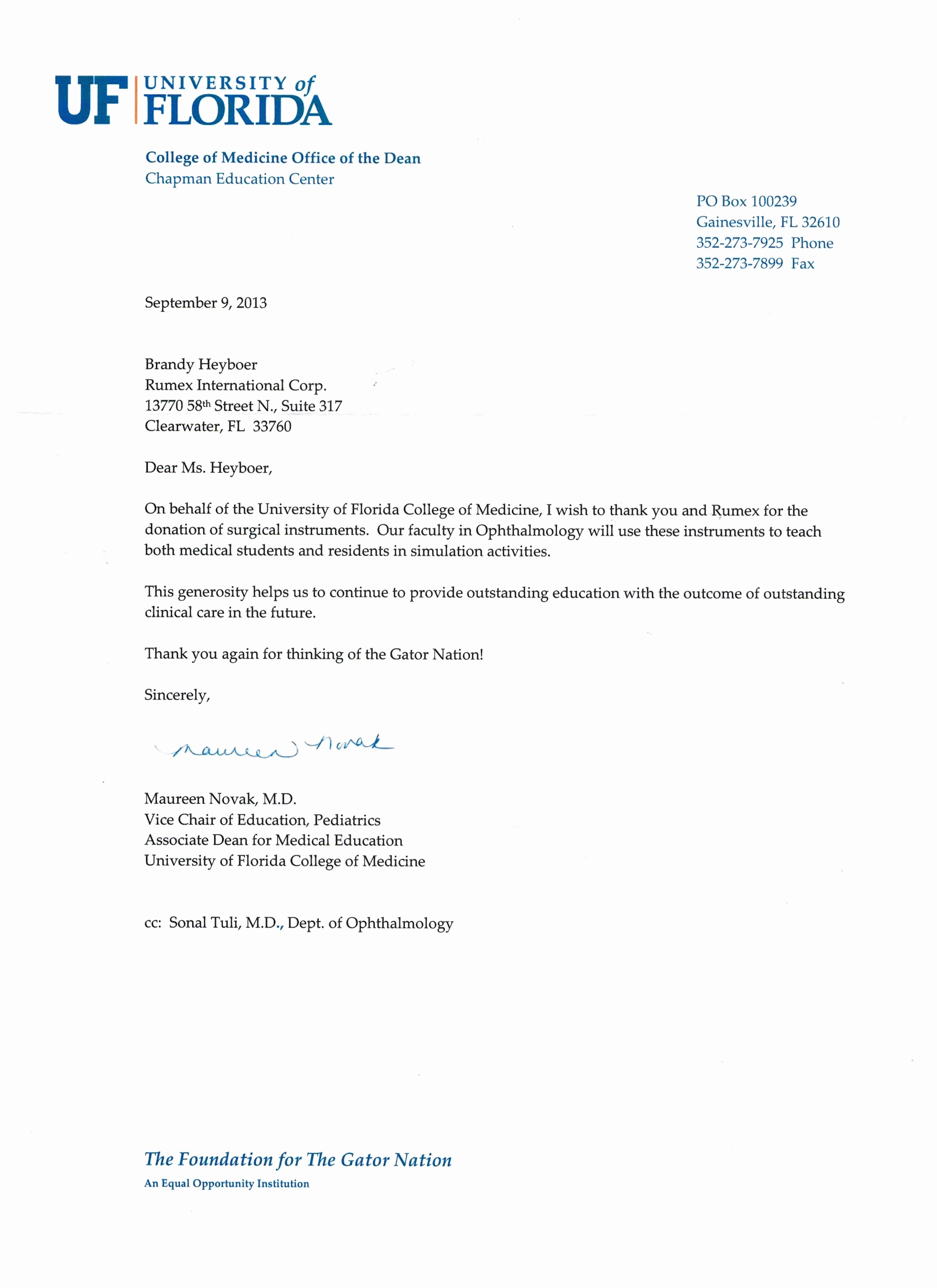 Thank You for Donation Letter Awesome Rumex Donations