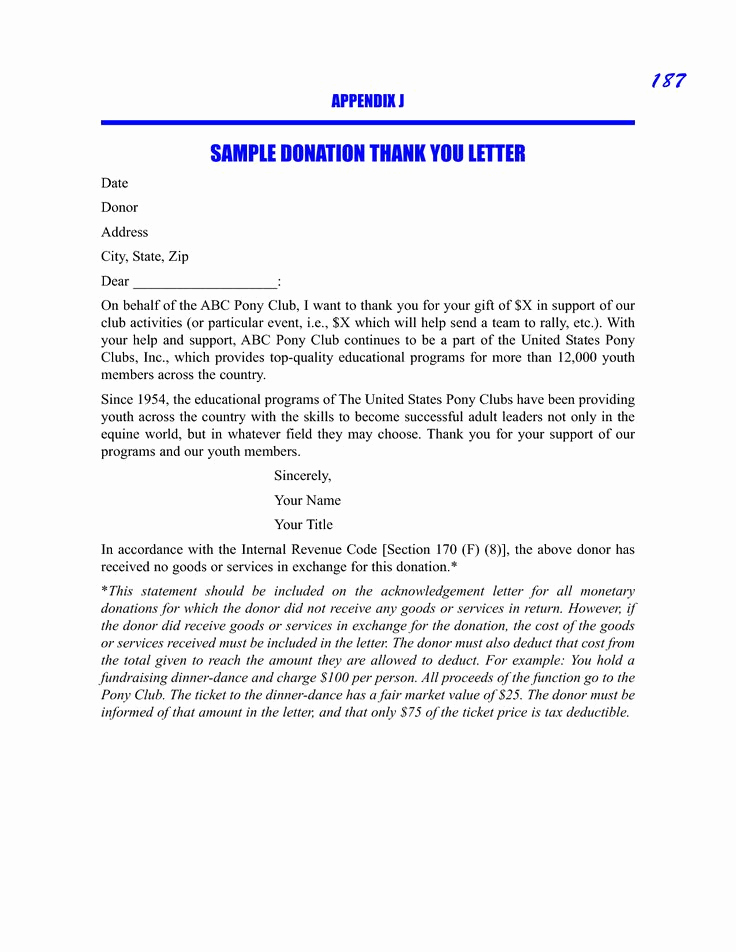 Thank You for Donation Letter Fresh Sample Donation Thank You Request Letter Sample Picture
