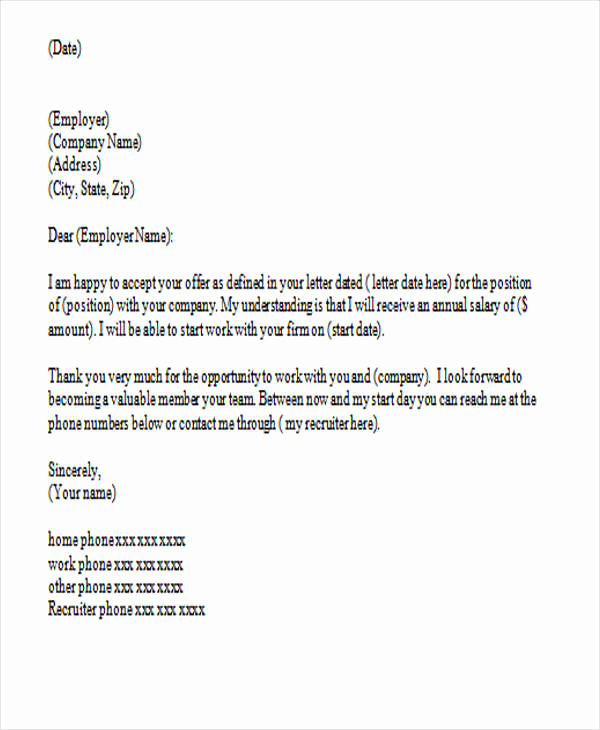 Thank You for Job Offer Fresh 37 Thank You Letter In Word Templates