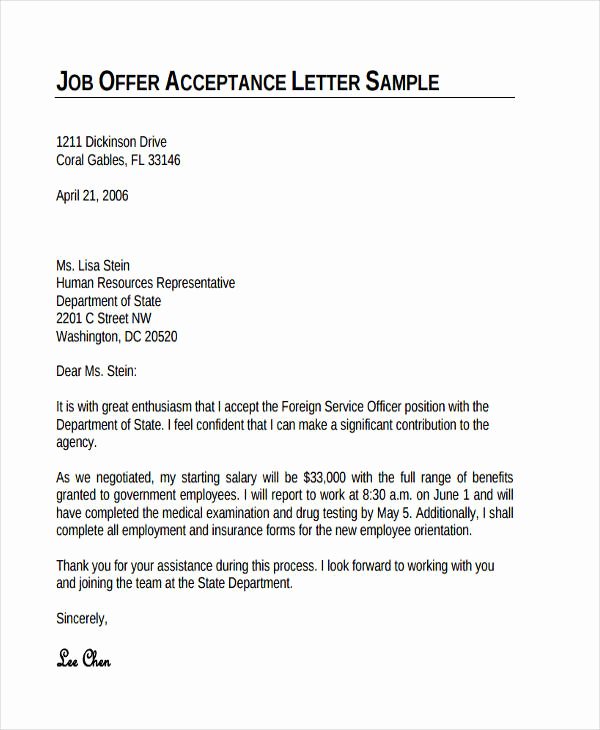 Thank You for Job Offer Inspirational 74 Thank You Letter Examples Doc Pdf