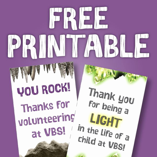 Thank You for Volunteering Beautiful Free Cave Quest Printable Download Use This Printable Tag
