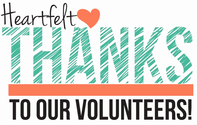 a thank you message for our volunteers