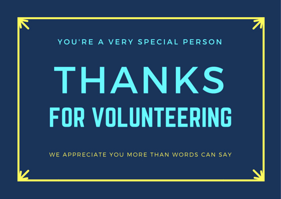Thank You for Volunteering Inspirational Volunteer Thank You Cards