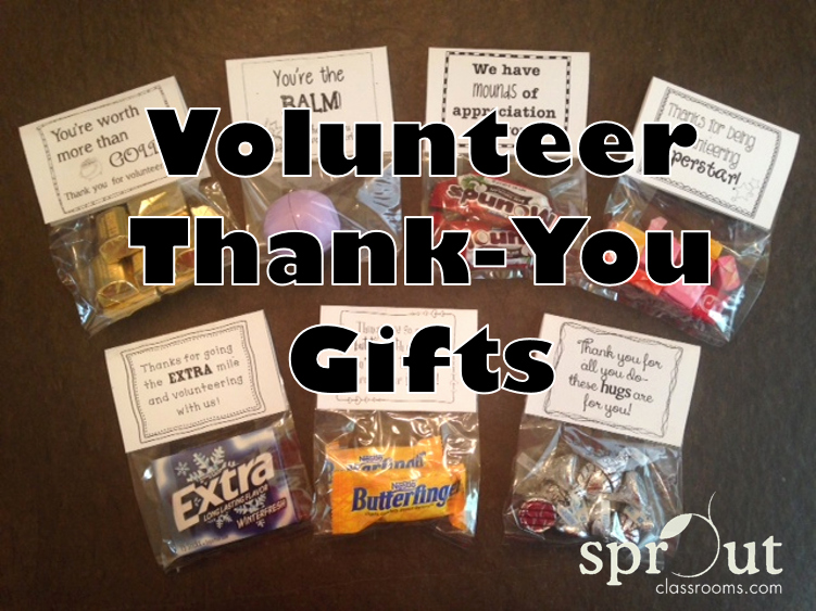 Thank You for Volunteering Luxury Volunteer Thank You Gifts Sprout Classrooms