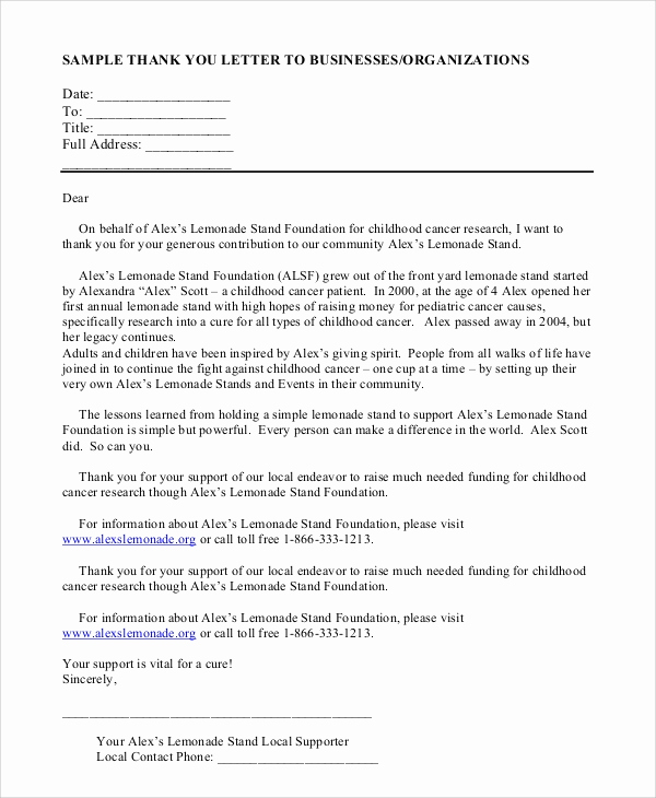 Thank You Letter Business Beautiful Sample Business Thank You Letter 7 Examples In Pdf Word