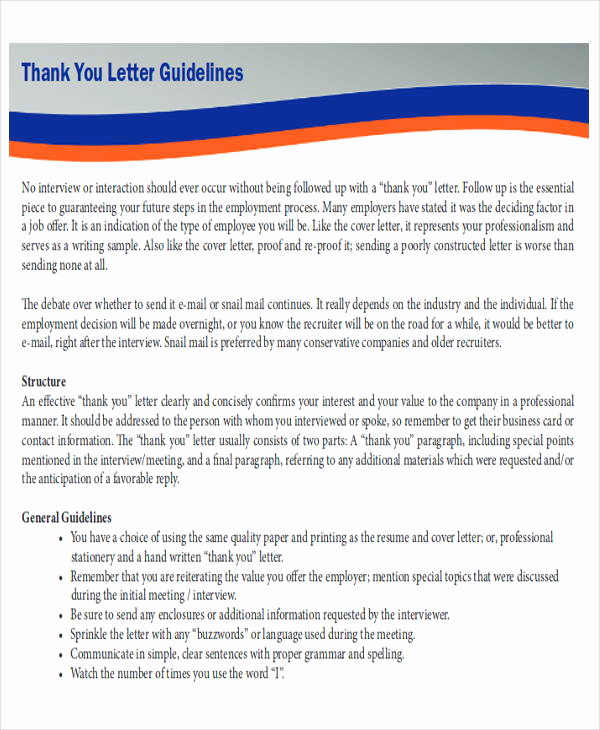Thank You Letter Business Fresh Sample Business Letter Layout 8 Examples In Word Pdf