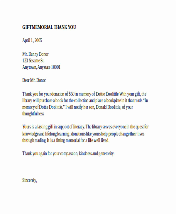 Thank You Letter for Gift Beautiful 74 Thank You Letter Examples Doc Pdf