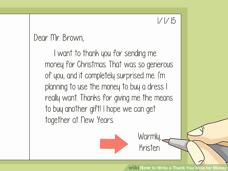 Thank You Letter for Gift Best Of How to Write A Thank You Note for Money with Sample Thank