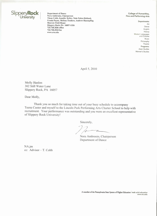 Thank You Letter for Recommendation Unique Letter Re Mendation Thank You