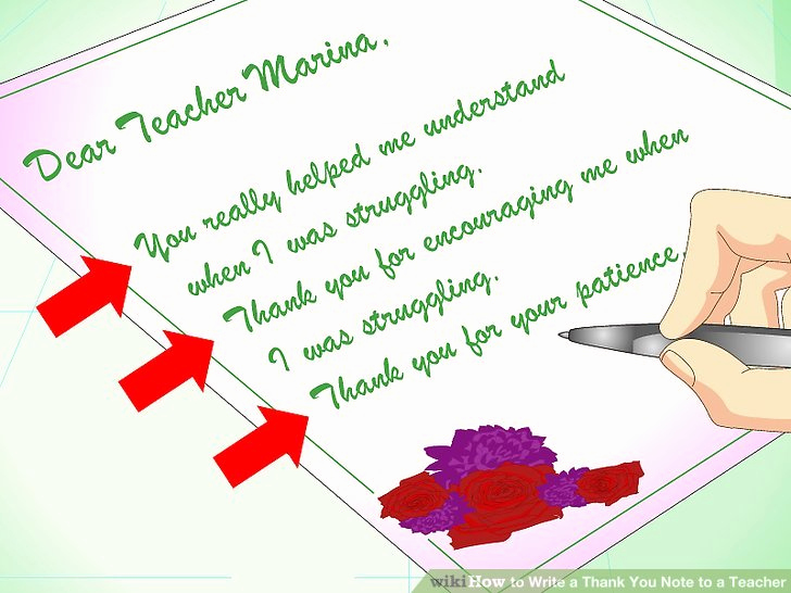 Thank You Letter for Teacher Elegant How to Write A Thank You Note to A Teacher with Sample Notes