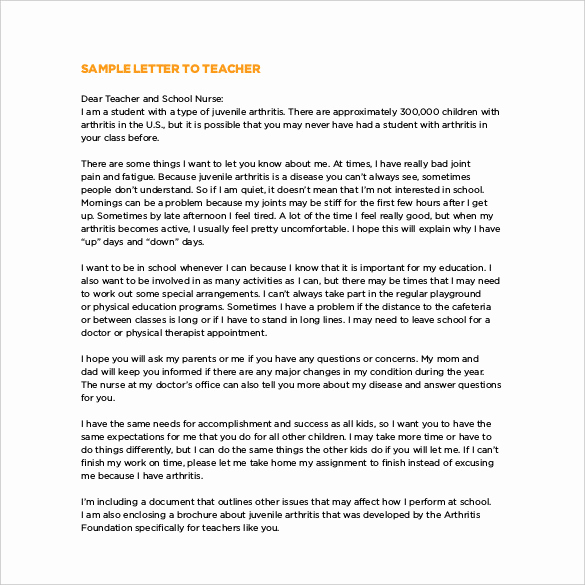 Thank You Letter for Teacher Luxury Thank You Letter to Teacher 12 Free Word Excel Pdf