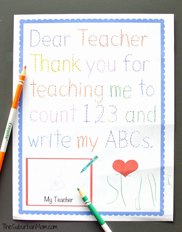 Thank You Letter for Teacher Luxury Traceable Preschool Teacher Thank You Note