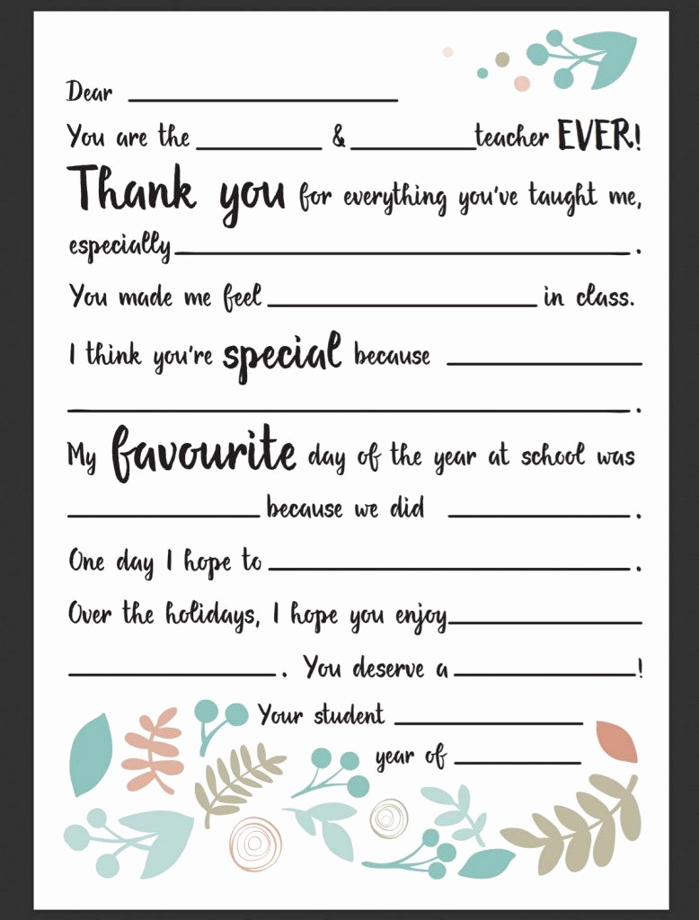 Thank You Letters to Teachers Inspirational Dear Teacher Letter Be A Fun Mum