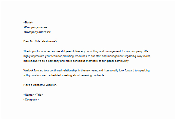Thank You Note Example Awesome Sample Business Thank You Letter – 11 Free Sample