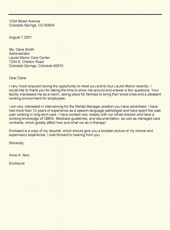 Thank You Note Example Awesome Thank You Letter Example Writing Advice