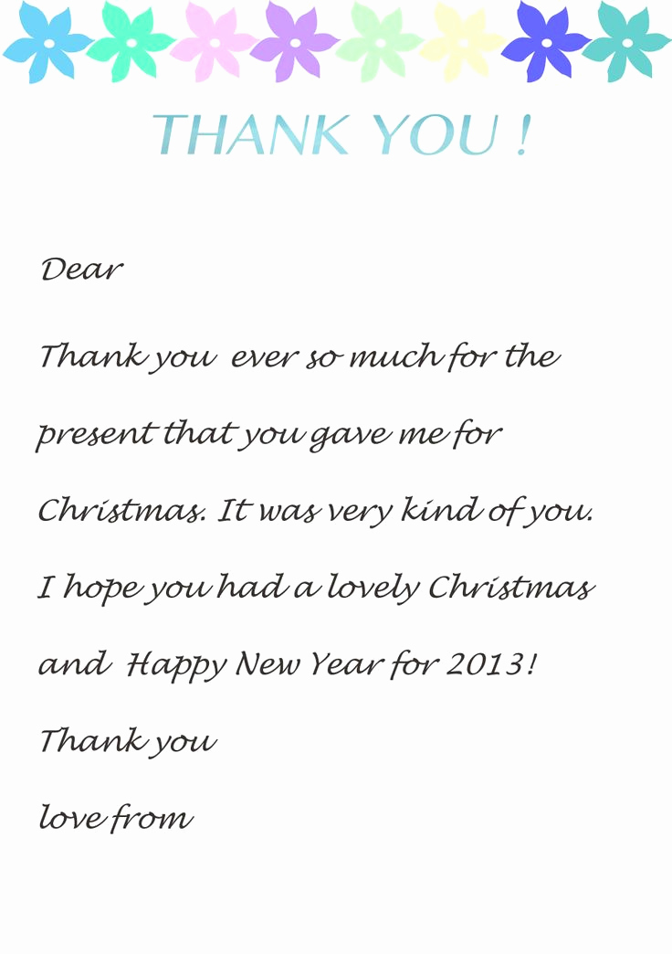Thank You Note Example Beautiful Thank You Note Templates