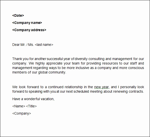 Thank You Note Example Inspirational Sample Business Thank You Letter 6 Documents In Word