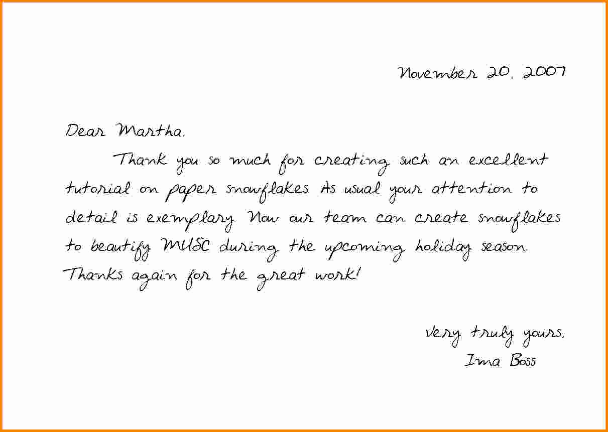 Thank You Note Example Inspirational Thank You Notes Samples