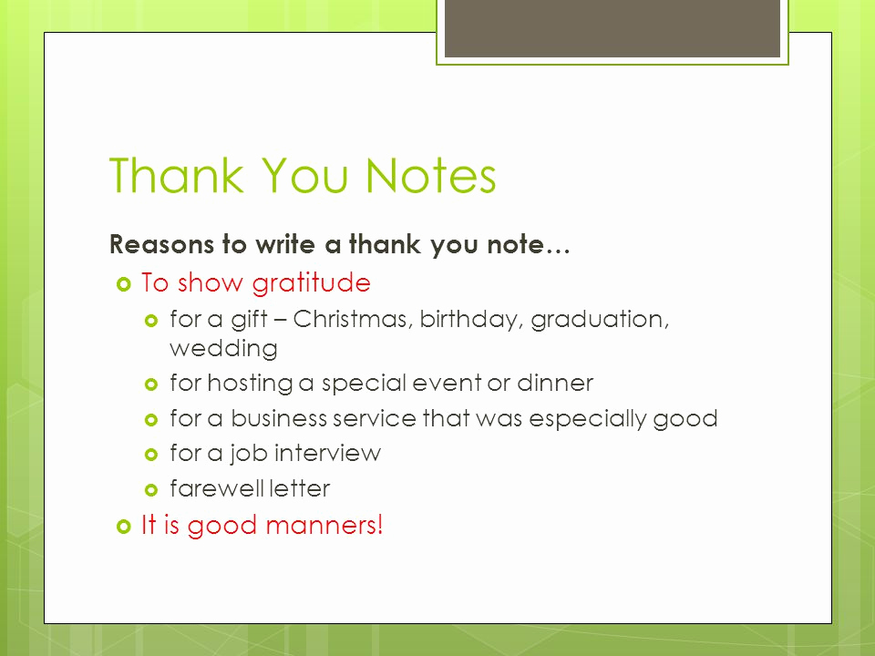 Thank You Note for Dinner Awesome Thank You Notes Reasons to Write A Thank You Note… to Show