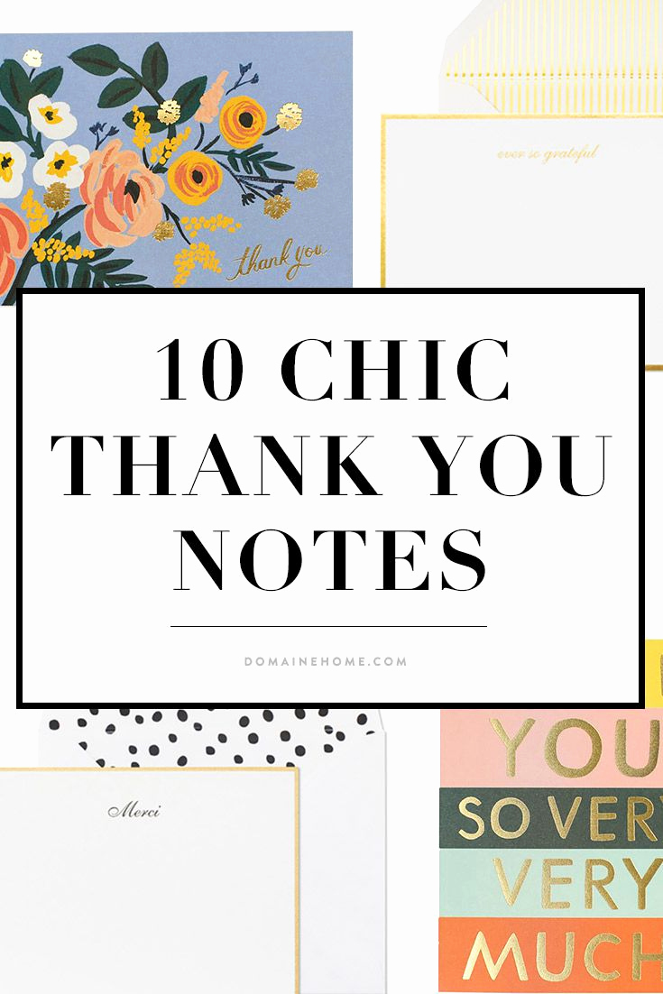Thank You Note for Dinner Elegant 10 Of the Chicest Thank You Notes