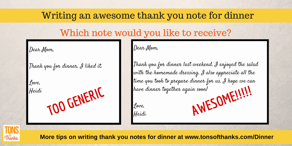 Thank You Note for Dinner Elegant Write An Awesome Thank You Note for Dinner