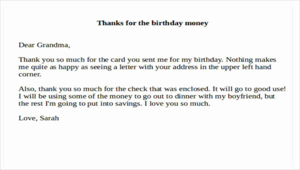 Thank You Note for Money Best Of 7 Sample Thank You Notes for Money