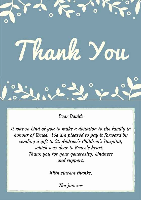 Thank You Note for Money Elegant 33 Best Funeral Thank You Cards