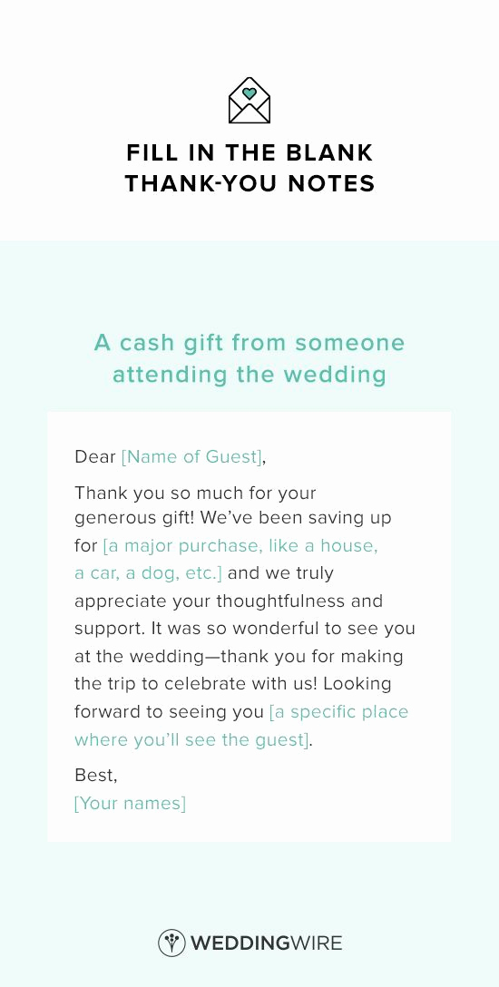 Thank You Note for Money Lovely these Wedding Thank You Note Templates are Legit Essential